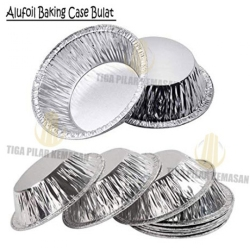 Alufoil Baking Case Bulat